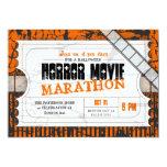 Movie Ticket Halloween Horror Movie Party 13 Cm X 18 Cm Invitation Card