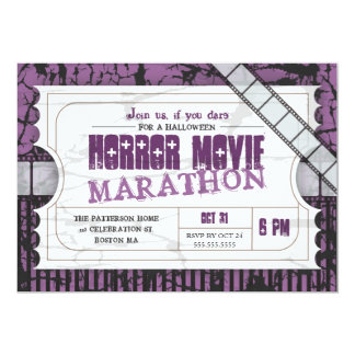 Movie Ticket Halloween Horror Movie Party 13 Cm X 18 Cm Invitation Card
