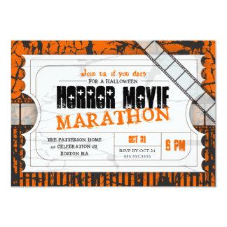 Movie Ticket Halloween Horror Movie Party Card