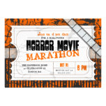 Movie Ticket Halloween Horror Movie Party Announcements