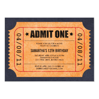Movie Ticket Invitations