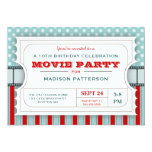 Movie Ticket Party Birthday Party Admission Ticket Personalized Announcements