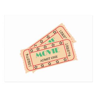 Movie Ticket Postcard