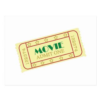 Movie Tickets Postcard