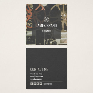 Movie Video Filmmaker Square Business Card