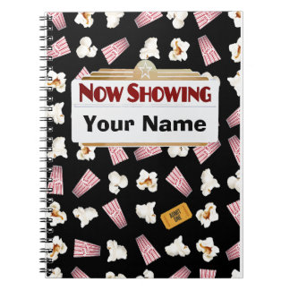 Movies and Popcorn Customizable Spiral Notebook