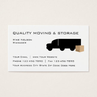 Moving And Storage Business Card