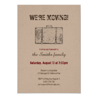Moving Announcement / Farewell Party Invitation