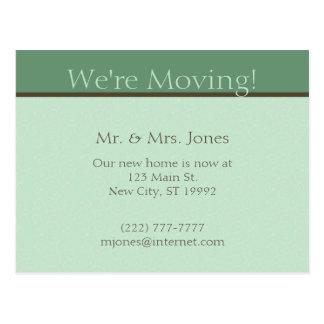 Moving Announcement Postcard