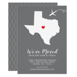 Moving Announcement | State TEXAS