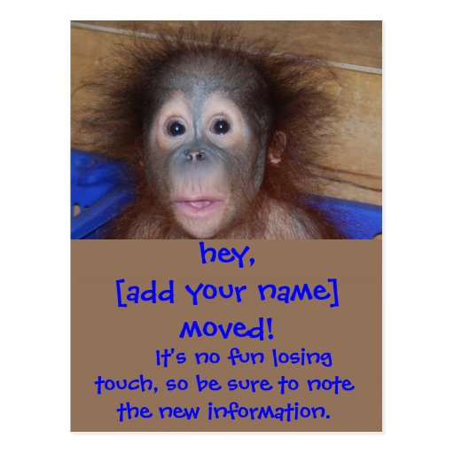 Moving Announcements Cute Face Postcard
