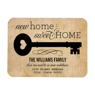 Moving Announcements | New Home Sweet Home Rectangle Magnets