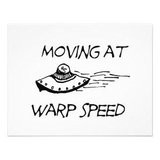 Moving At Warp Speed Invitations
