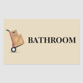 Moving Box Label - Bathroom