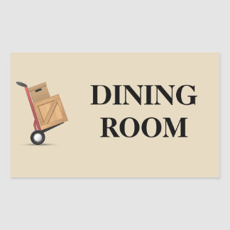 Moving Box Label - Dining Room