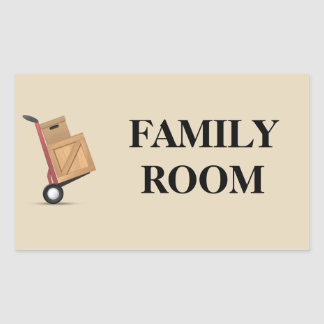 Moving Box Label - Family Room