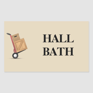 Moving Box Label - Hall Bath