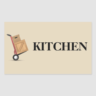 Moving Box Label - Kitchen