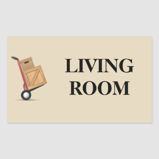 Moving Box Label - Living Room