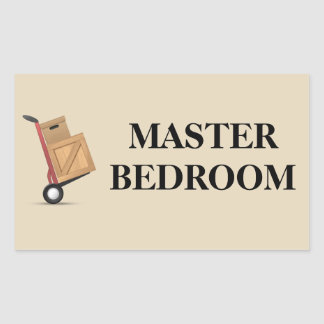 Moving Box Label - Master Bedroom
