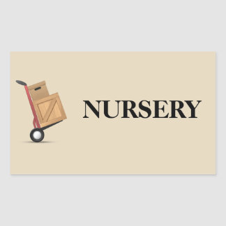 Moving Box Label - Nursery