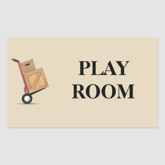 Moving Box Label - Play Room
