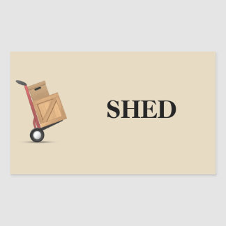 Moving Box Label - Shed