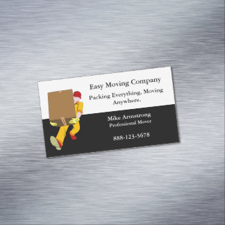 Moving Company Mover Box Magnetic Business Card