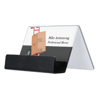 Moving Company Mover Dolly Cart Desk Business Card Holder
