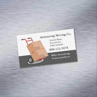 Moving Company Mover Dolly Cart Magnetic Business Cards