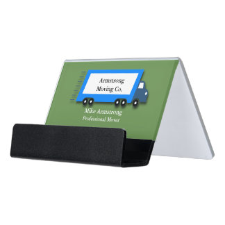 Moving Company Moving Truck Mover Desk Business Card Holder