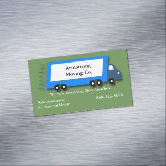 Moving Company Moving Truck Mover Magnetic Business Card