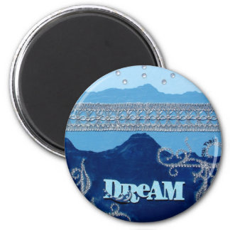 Moving mountains through dreams. magnet