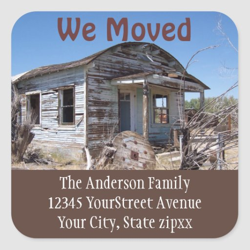 Moving New Address Sticker