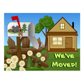 Moving notice announcements postcard