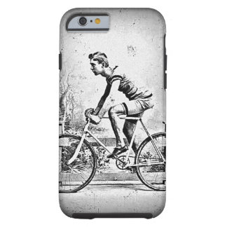 Moving On l Monochrome Cyclist Cycling Tough iPhone 6 Case