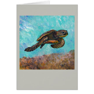 Moving On Sea Turtle Card
