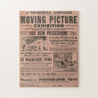 Moving Picture Exhibition Vintage Newspaper Puzzle