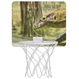 Moving slowly and deliberately mini basketball hoop