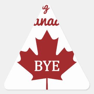 Moving to Canada Triangle Sticker