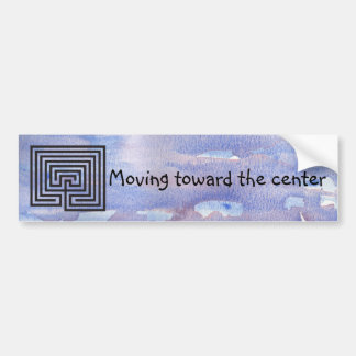 Moving to Center of the Labyrinth Bumper Sticker