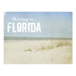 """Moving to Florida"", vintage look beach scene Postcard"