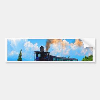 Moving to success train steam railway bumper sticker
