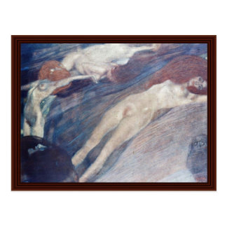 Moving Water By Klimt Gustav Postcard