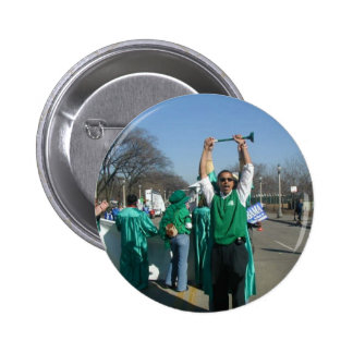 Mow-Bama (Obama) marches with the Lawn Rangers 6 Cm Round Badge