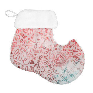 MOW follow your heart red Elf Christmas Stocking
