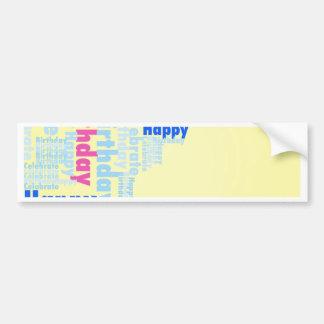 MOW Happy Birthday yellow.jpg Bumper Sticker