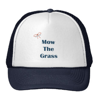 Mow The Grass Reminders Mesh Hats