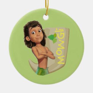 Mowgli 1 round ceramic decoration