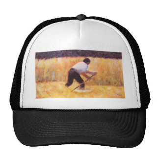 Mowing by Georges Seurat Mesh Hats